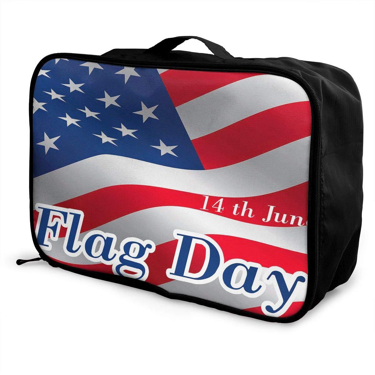 Travel Luggage Duffle Bag Lightweight Portable Handbag Flag Day Large Capacity Waterproof Foldable Storage Tote