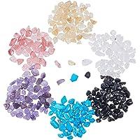 PandaHall Elite 1 Scatola 800PCS Perline Strass Pietra Preziosa Perline per Bigiotteria Perline Colorate, Colore Misto, 7~12x5~8x3~5mm