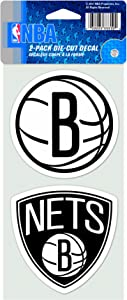 NBA Brooklyn Nets 4-by-8 Die Cut Decal