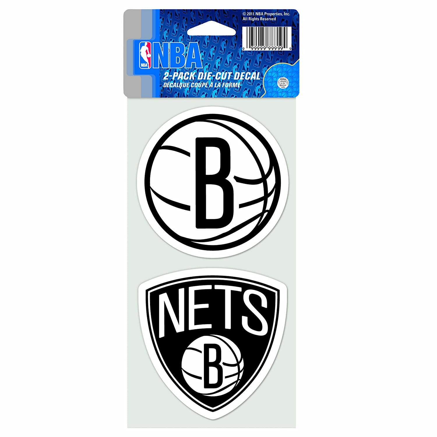 NBA Brooklyn Nets 4-by-8 Die Cut Decal