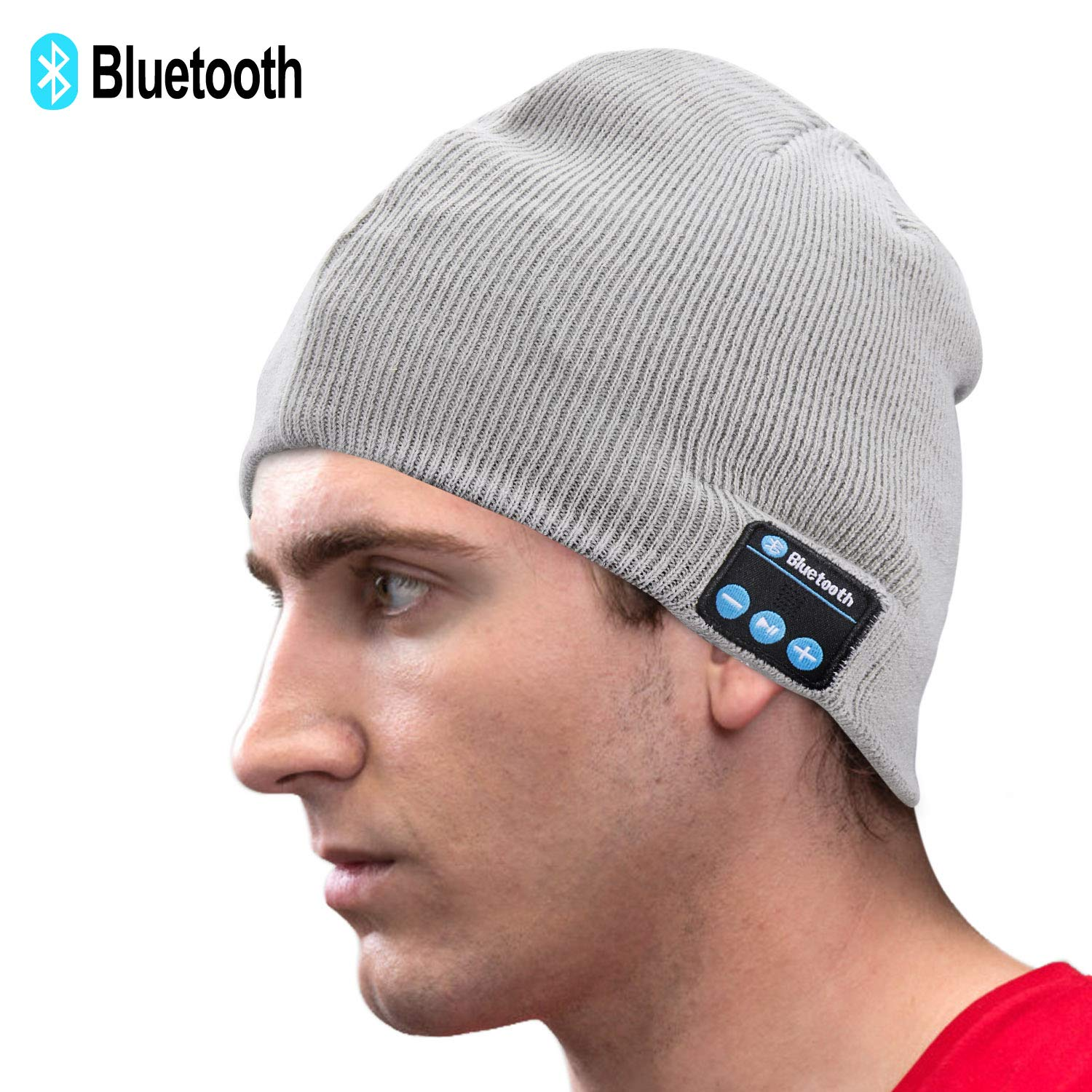 f88c8af9a ICETEK Unisex Knit Bluetooth Beanie Winter Music Hat Grey [Upgraded Newest  V5.0] Knit Running Cap with Stereo Speakers & Mic Unique Christmas Tech ...
