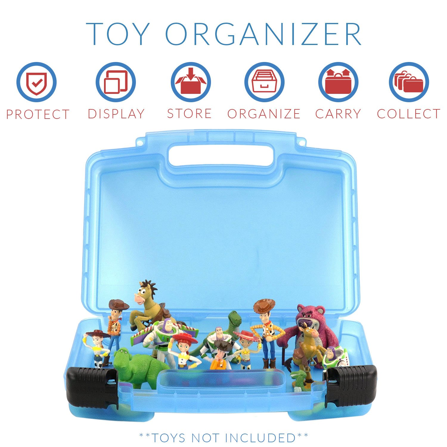 Figures Playset Organizer Life Made Better Toy Story Case Toy Storage Carrying Box Accessories Kids LMB LMB121