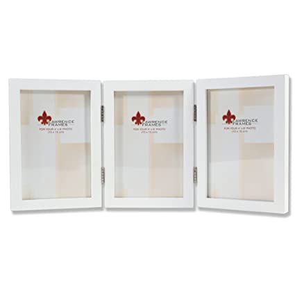 Amazon.com - Lawrence Frames Hinged Triple White Wood Picture Frame ...