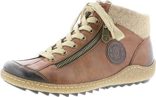Details zu Remonte Damen Schuhe R4774 Stiefeletten rot gr 42