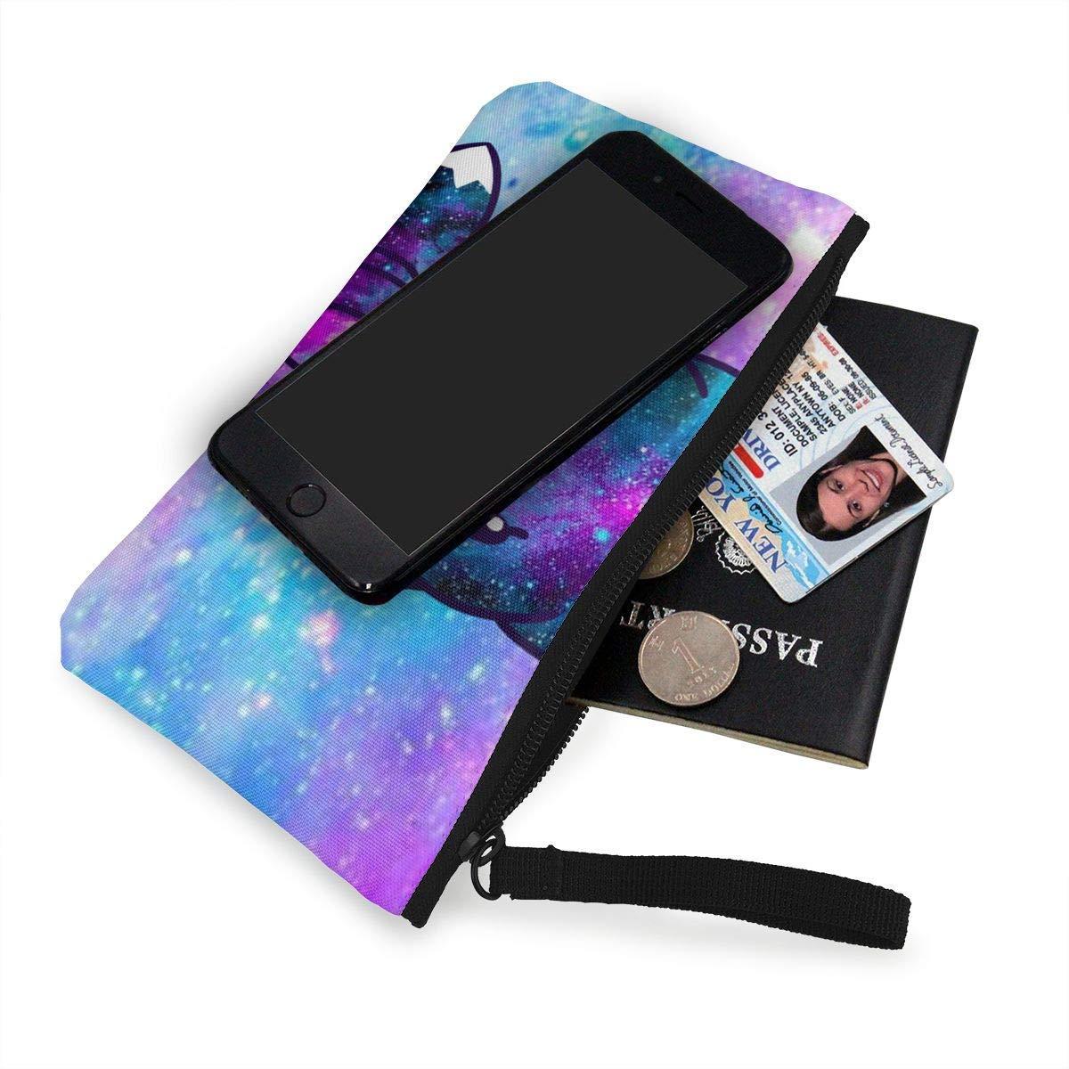 Coin Purse Galaxy Fox Cute Men Zip Canvas Purses TravelStylish Bag