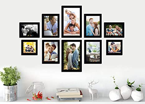 62bb004962d8 Buy Art Street - Set of 10 Individual Black Wall Photo Frames Wall Hanging  (Mix Size) (2 Units 4x6