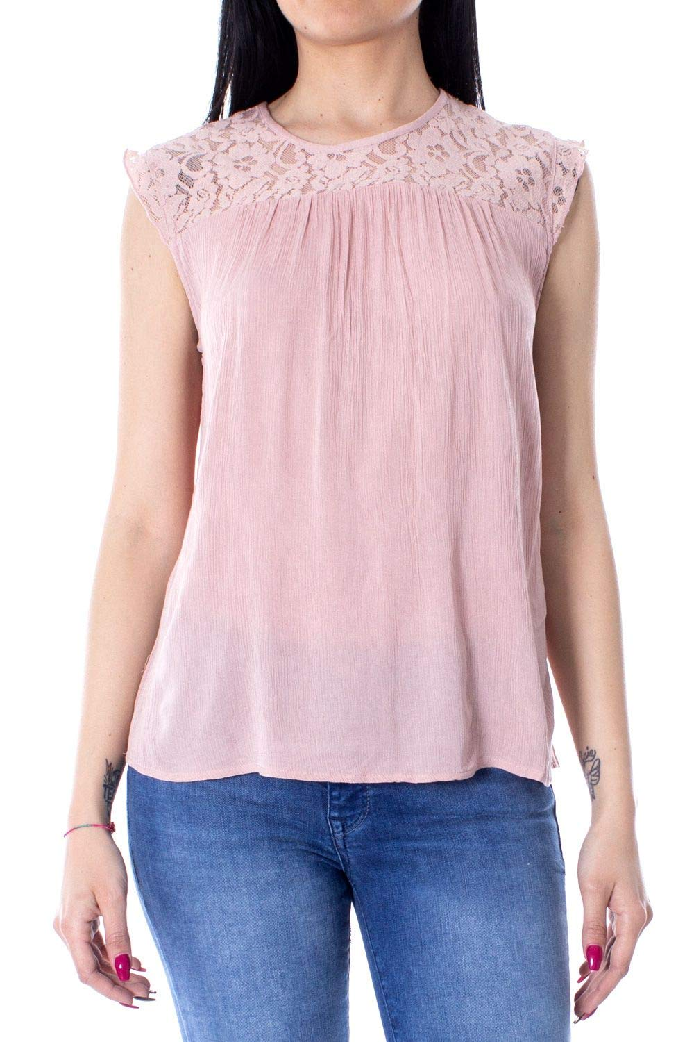 Only Women's 15157657PINK Pink Viscose Tank Top