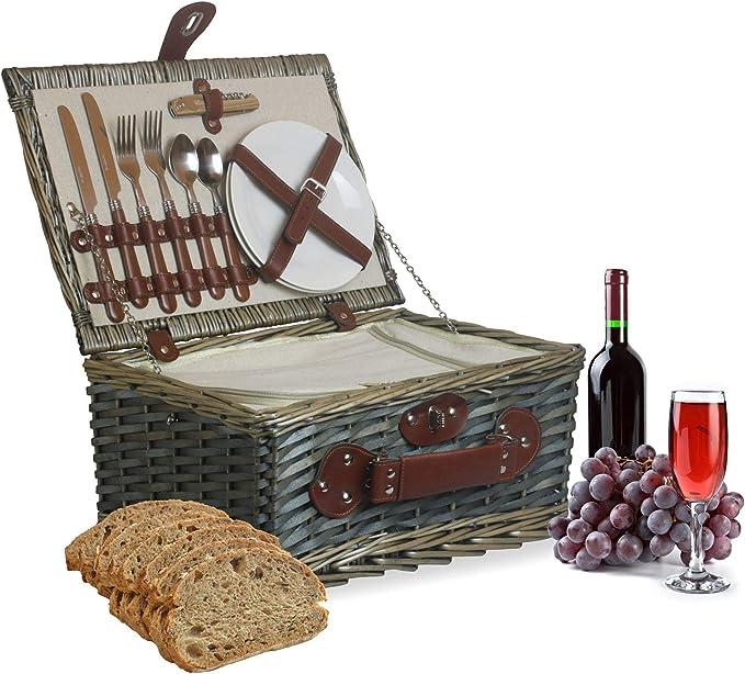 Muldale Wrenbury - Cesta de picnic ajustable para 2 personas