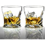 Ecooe 300mL/10.24oz Old Fashion Whiskey Glass Tumblers for Scotch, Bourbon and More, Set of 2