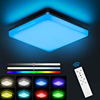 NIXIUKOL Plafon LED Techo Regulable RGB 24W con Mando a Distáncia, Lámpara de…