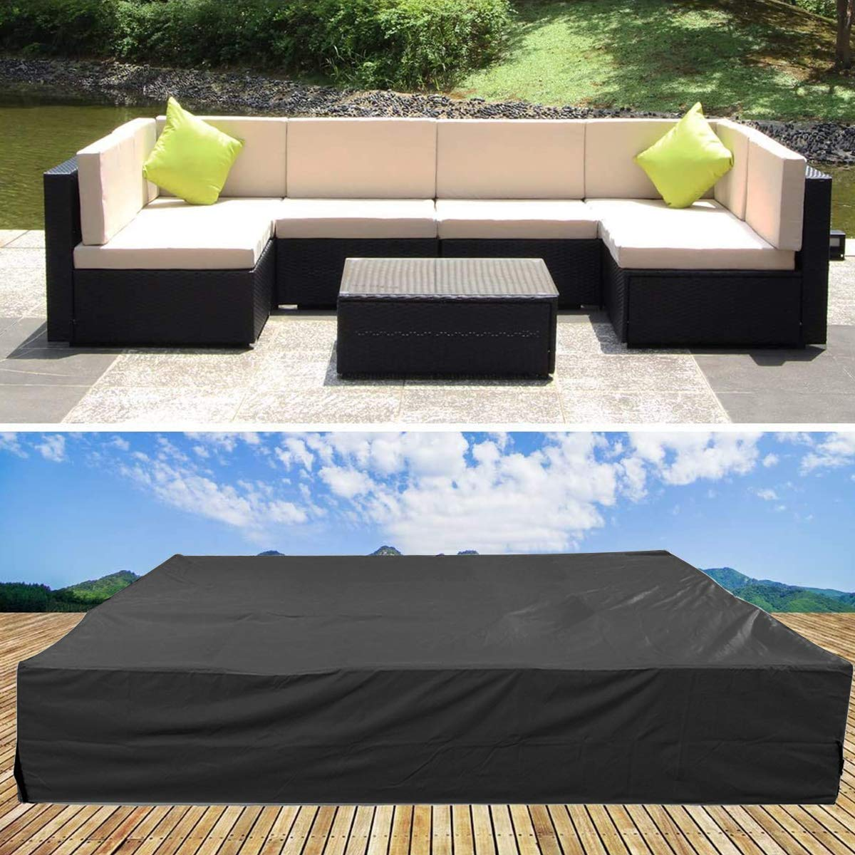 U Max Furniture Set Cover Premium Outdoor Furniture Cover Durable And Water Resistant Patio Table Chair Set Fabric Buy Online In Dominica At Dominica Desertcart Com Productid 203046374