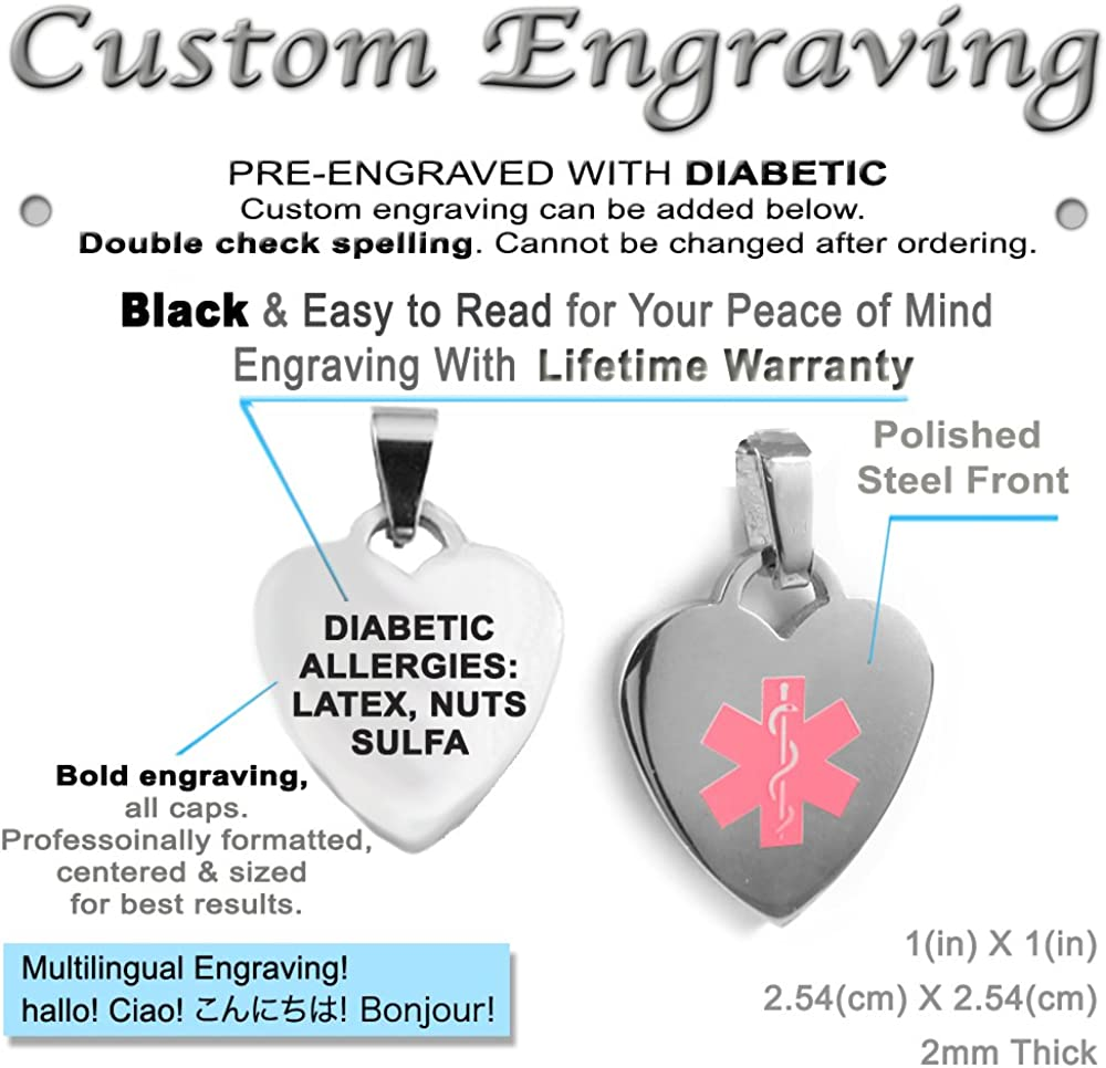 My Identity Doctor Red Red Millefiori Glass Customized Pre-Engraved /& Customized Insulin Dependent ID Bracelet