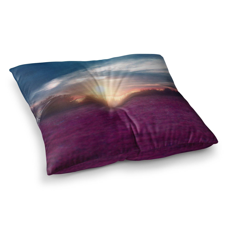 Kess InHouse Viviana Gonzalez Sunset I C 26 x 26 Square Floor Pillow Purple Blue Photography