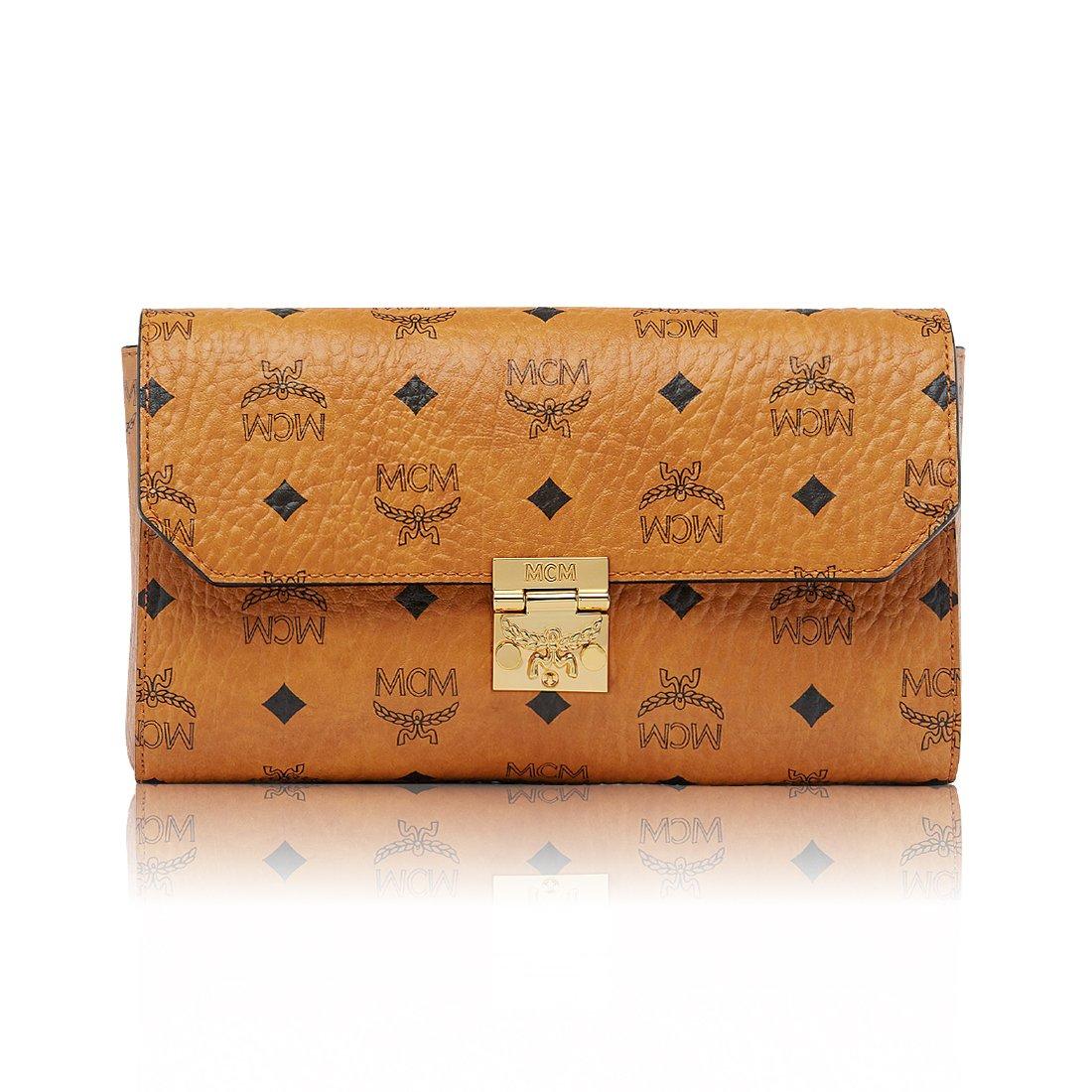 レディース ショルダーバッグ ハンドバッグ 財布 millie visetos flap crossbody Handbag Wallet 2way 2size Cognac 月桂樹[並行輸入品] B07C7DM7BD Small