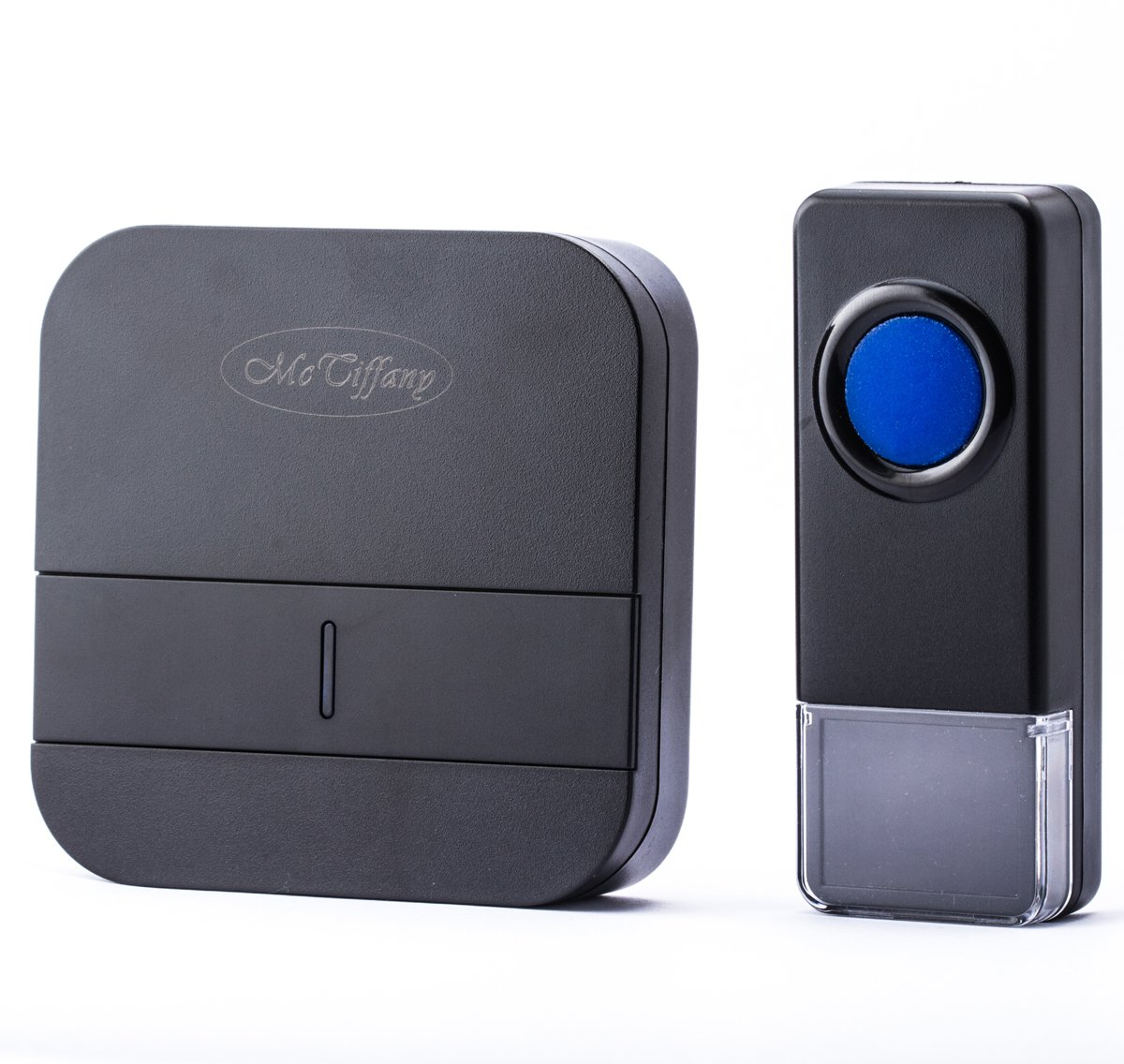 Wireless Doorbell Operating at over 500-feet Range with Over 50 Chimes, No Batteries Required for Receiver, (Black)