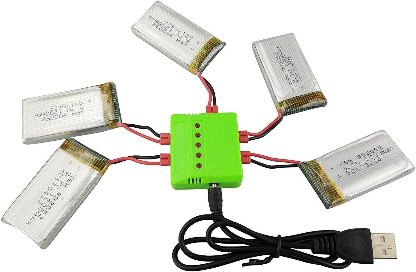 5 Baterias 3.7V 1200mah para drone SYMA X5HW X5HC