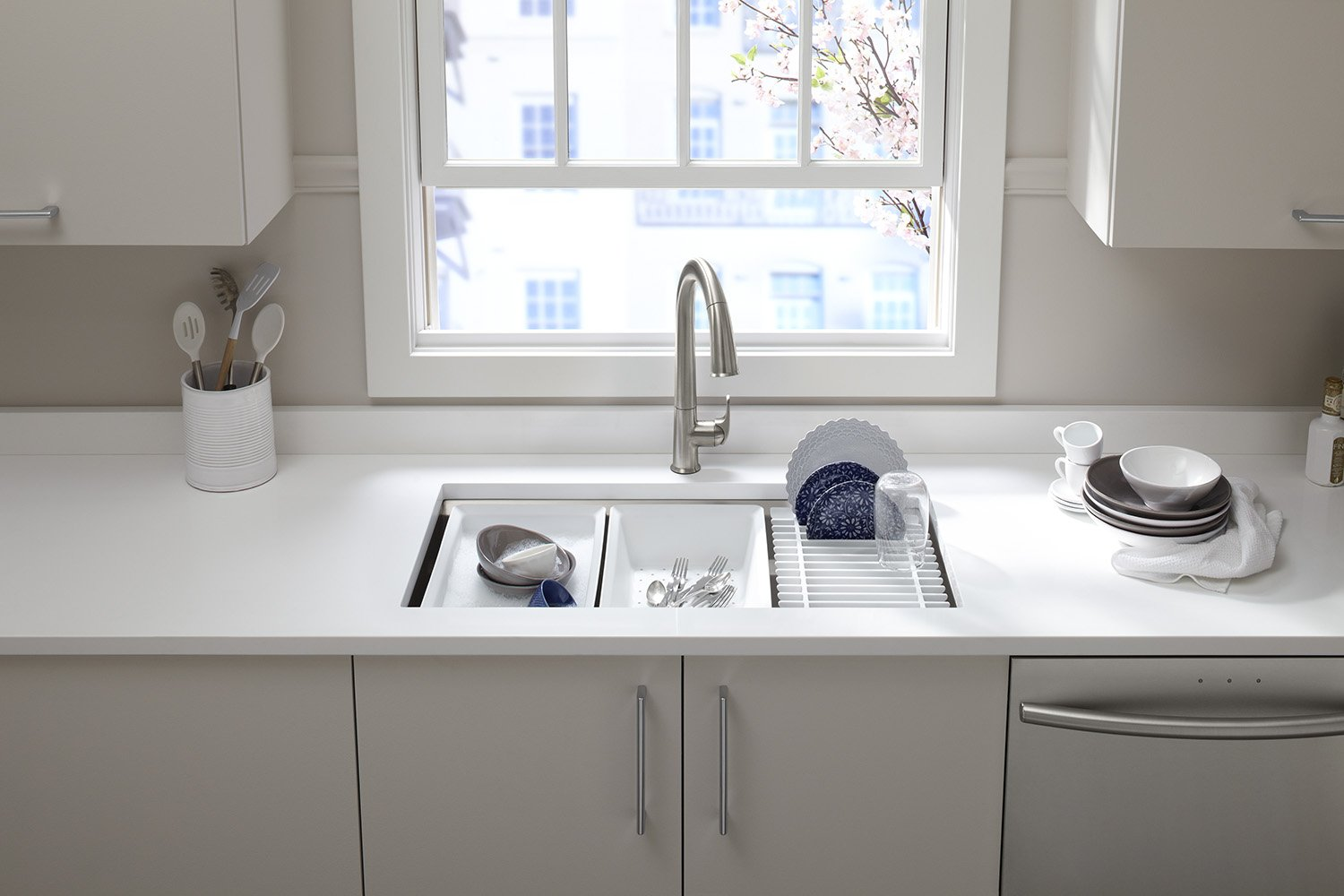 KOHLER Prolific 33 inch Workstation Stainless Steel Single Bowl Kitchen Sink with included Accessories, 11 inches deep, 18 gauge, Undermount installation K-5540-NA by Kohler (Image #8)
