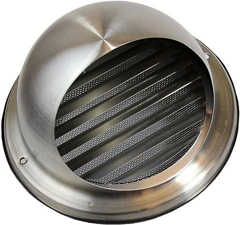 125/mm de diam/ètre Int/égr/é Moustiquaire en maille Invero/® Fixation murale en m/étal ronde Bull-nose Grille da/ération avec lamelles /en acier inoxydable /