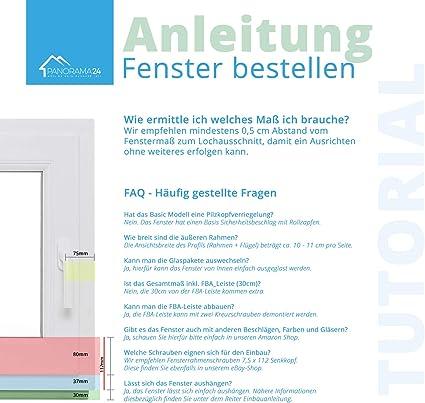 Wei/ß Fenster Kunststofffenster Kellerfenster 3-fach Verglasung Premium Breite: 80 cm x H/öhe: Alle Gr/ö/ßen BxH: 80x40 cm DIN Links Dreh-Kipp-Funktion