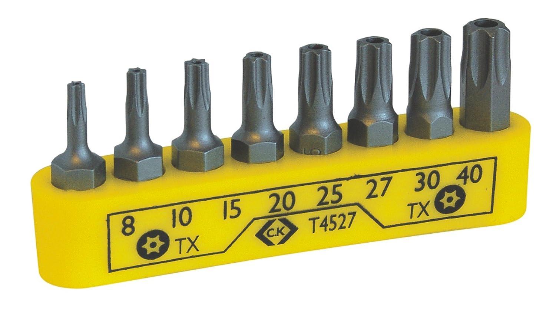 C.K T4528 Hexagon Tamperproof Screwdriver Bit Clip Set
