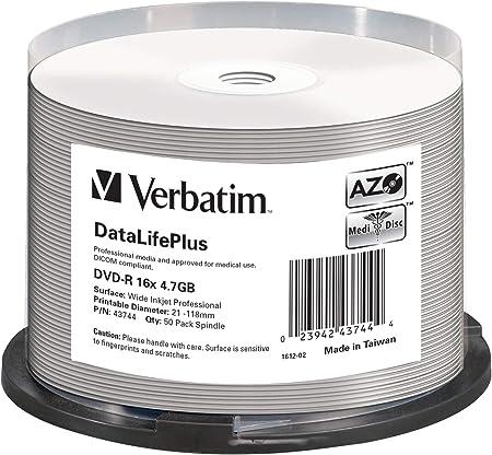 Verbatim Dvd R 16x Wide Inkjet Professional 4 7gb I Computer Zubehör