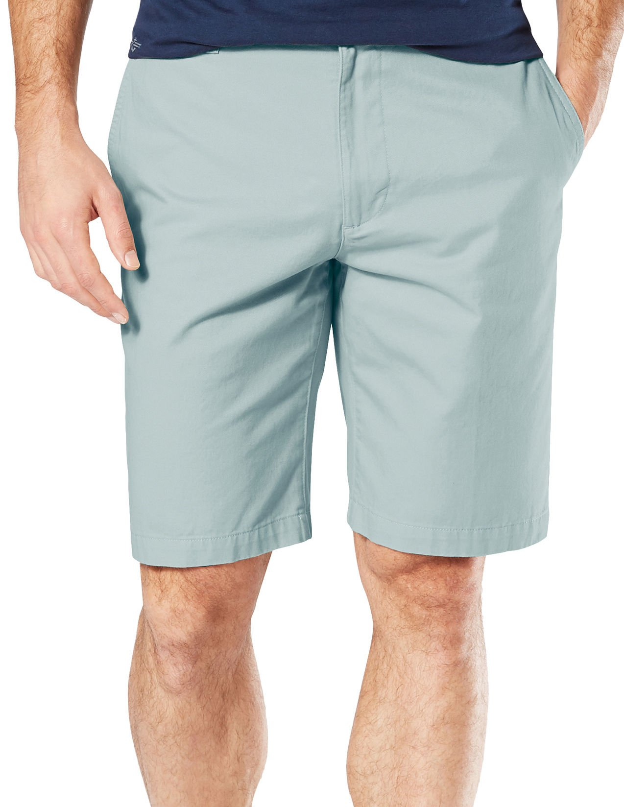 Dockers Mens Perfect Solid Shorts 36W Stormy