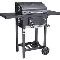 ACTIVA Grill Grillwagen Angular, Schwarz, Holzkohlegrill BBQ Barbecue