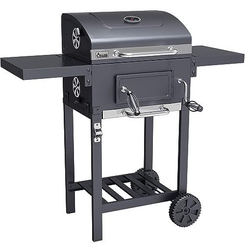 ACTIVA Grill Grillwagen Angular Schwarz Holzkohlegrill BBQ Barbecue