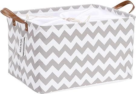 La cesta de almacenamiento mide aproximadamente 16.5 x 11.8 x 9.1 pulgadas (largo x ancho x alto) pa
