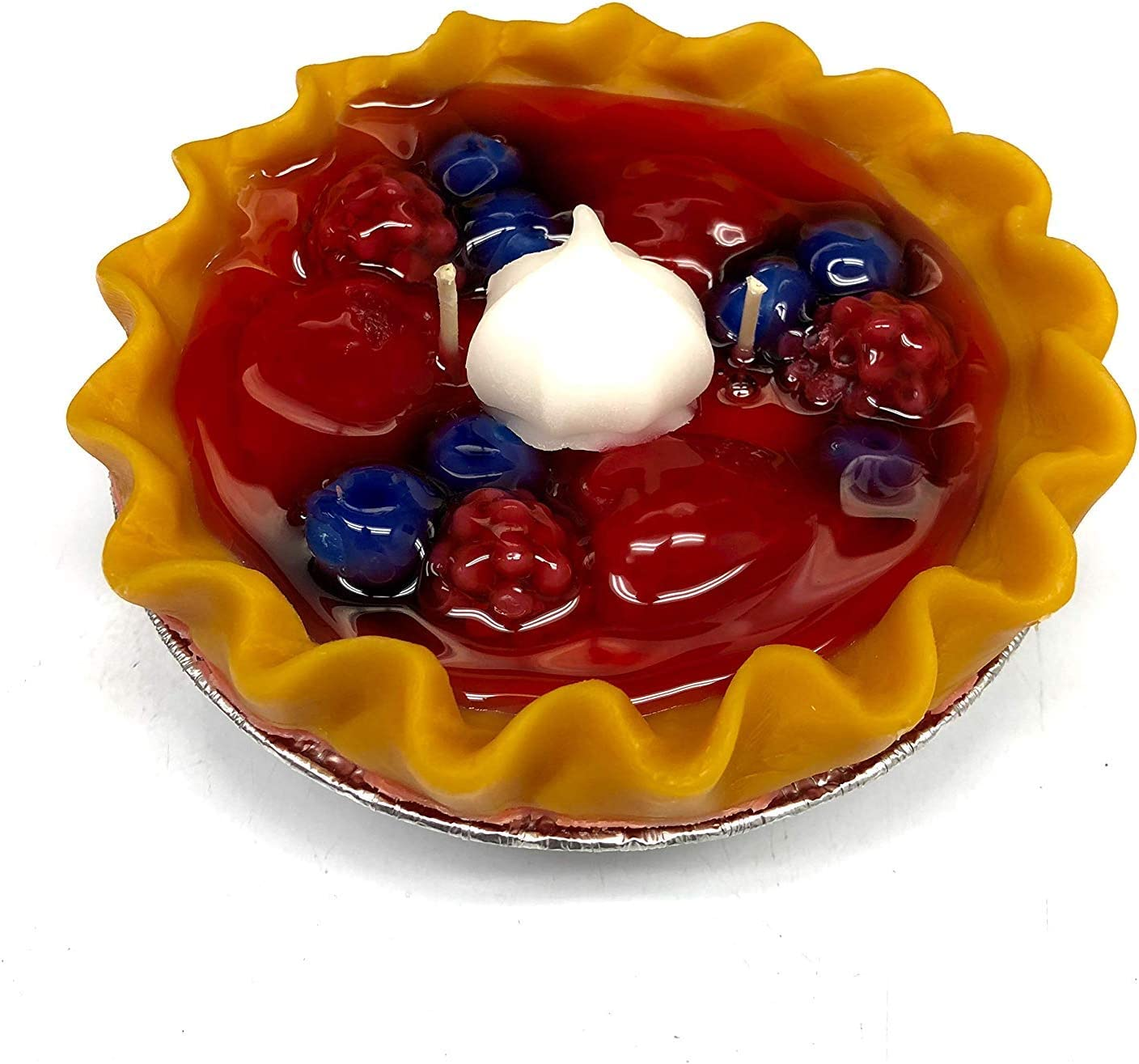 """Love That Scent Candles - Double Scented Pie Candle - 6"""" x 2"""" - Triple Berry"""