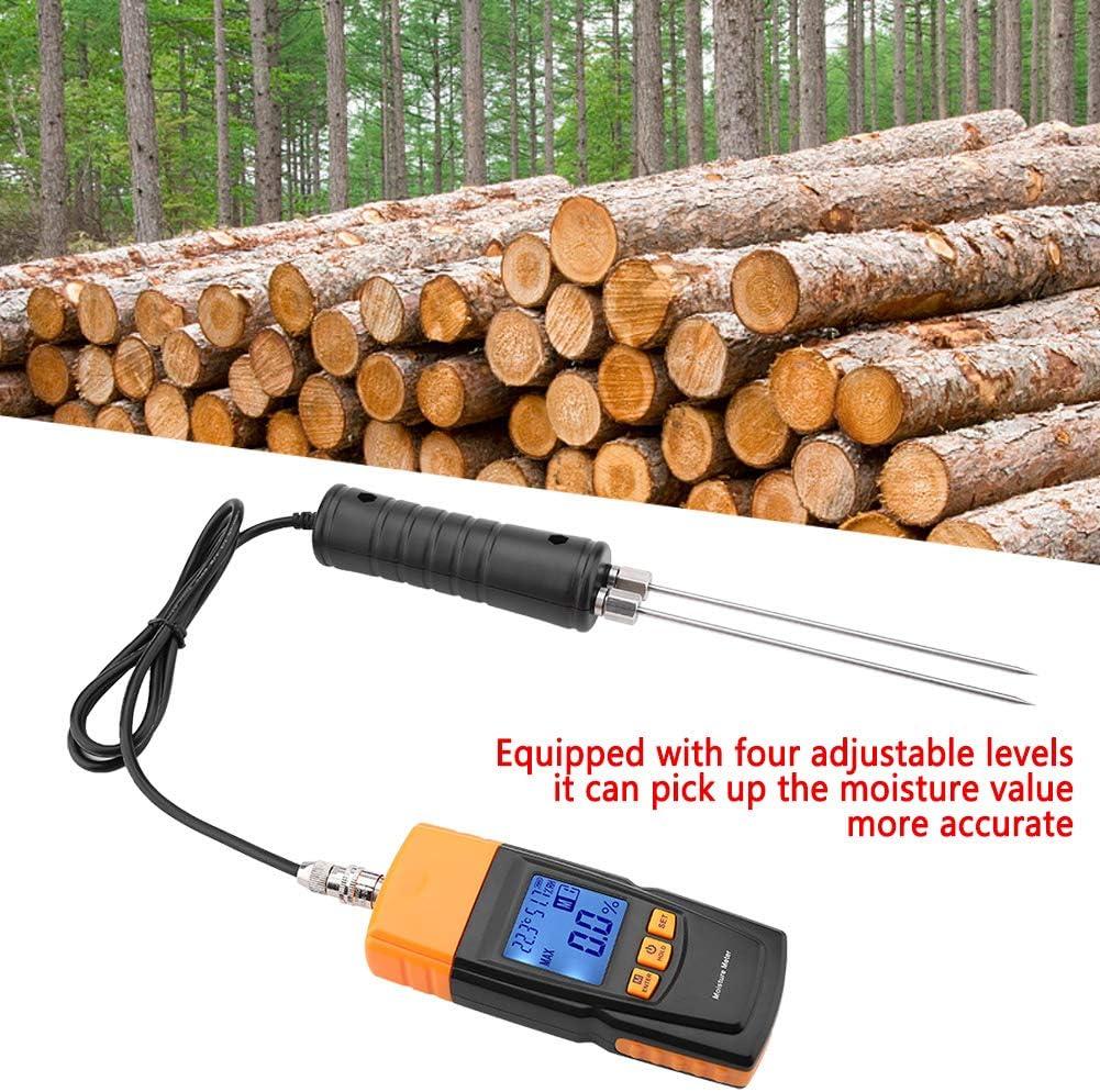 160mm,Holzfeuchtemessger/ät 70/%,Sondenl/änge Feuchtmessger/ät,GM620 LCD Display Digital Einstellbare Holzfeuchtetester 50/% 60/% 2-40/% 10-60 ℃ Feuchtetester Messbereich