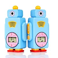 Retevis RT36 Kids Walkie Talkies Rechargeable Battery USB Charging Flashlight Long Range Crystal Sound License Free Walkie Talkies for Kids (Blue,2 Pack)