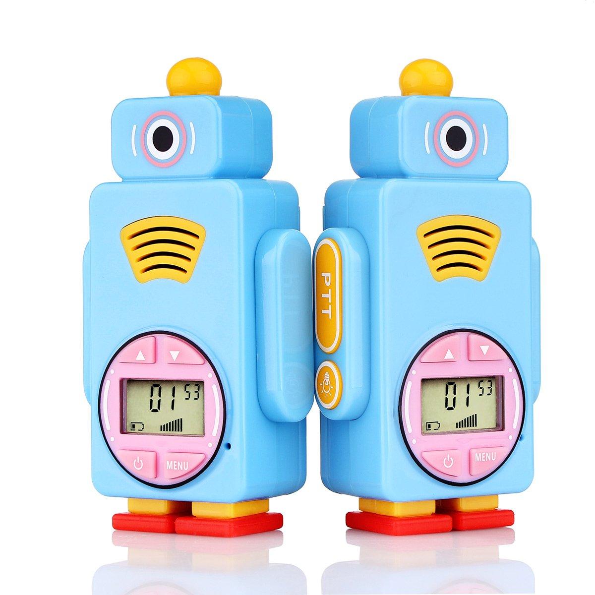 Retevis RT36 Kids Walkie Talkies Rechargeable Battery USB Charging Flashlight Long Range Crystal Sound License Free Walkie Talkies for Kids (Blue,2 Pack) by Retevis (Image #1)