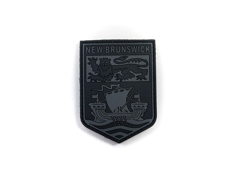 PVC Morale Patch NewBrunswick Provincial Patch Black /& Grey 2x2.5
