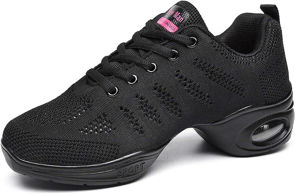 Women Trendy Running Athletic Sneakers Comfy Modern Jazz Hip Hop Dance Shoes