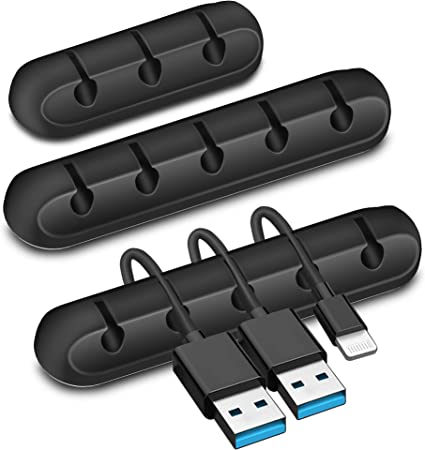 Slots USB Charger Cord Cord Holder Cord Management Cable Clip Cable Organizer