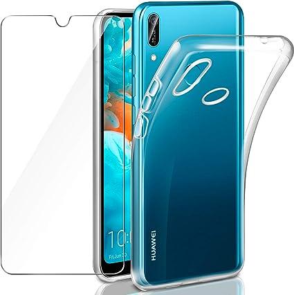 Leathlux Funda Huawei Y6 2019 + Protector de Pantalla de Cristal ...