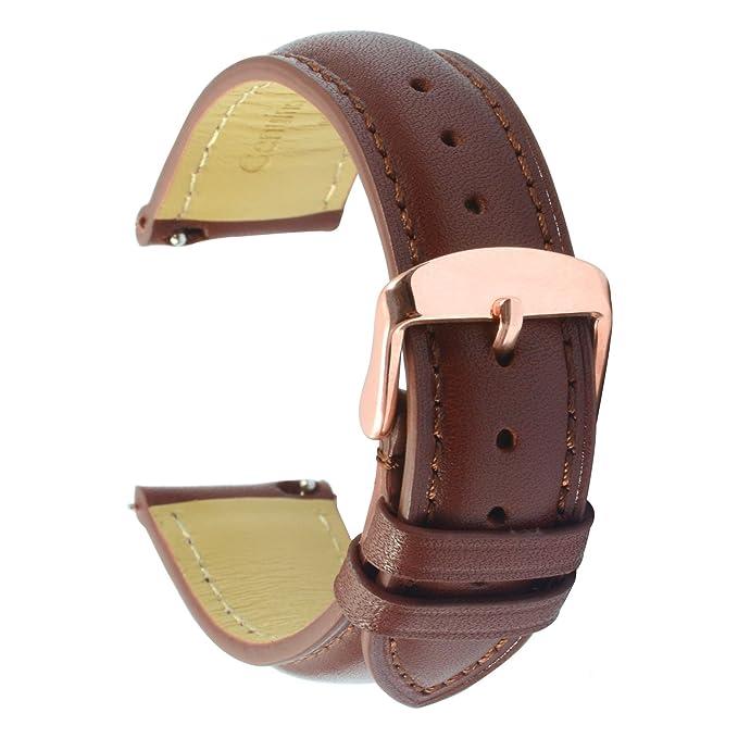 2 opinioni per Quick Release Cinturino Orologi Bracciale 22mm Banda Alta Qualità Vera Pelle