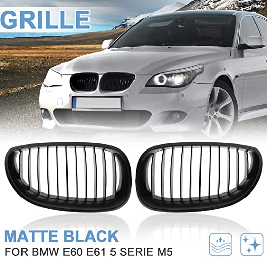 Matt Black Front Grille Nieren Grill Kühlergrill Für 03-10 BMW E60 E61 5 Series