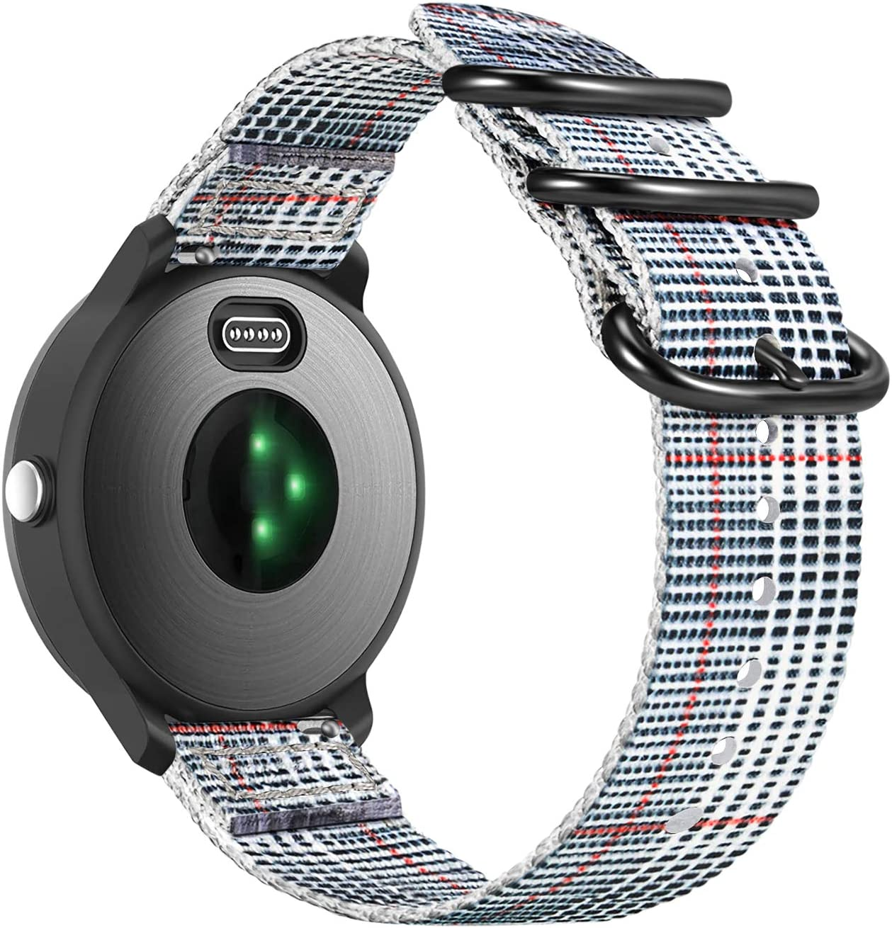 Fintie Band Compatible with Garmin Vivoactive 3, 20mm Soft Nylon Replacement Strap Band Compatible with Garmin Vivoactive 3 / Vivoactive 3 Music/Forerunner 645 Music Smartwatch (Color-B)
