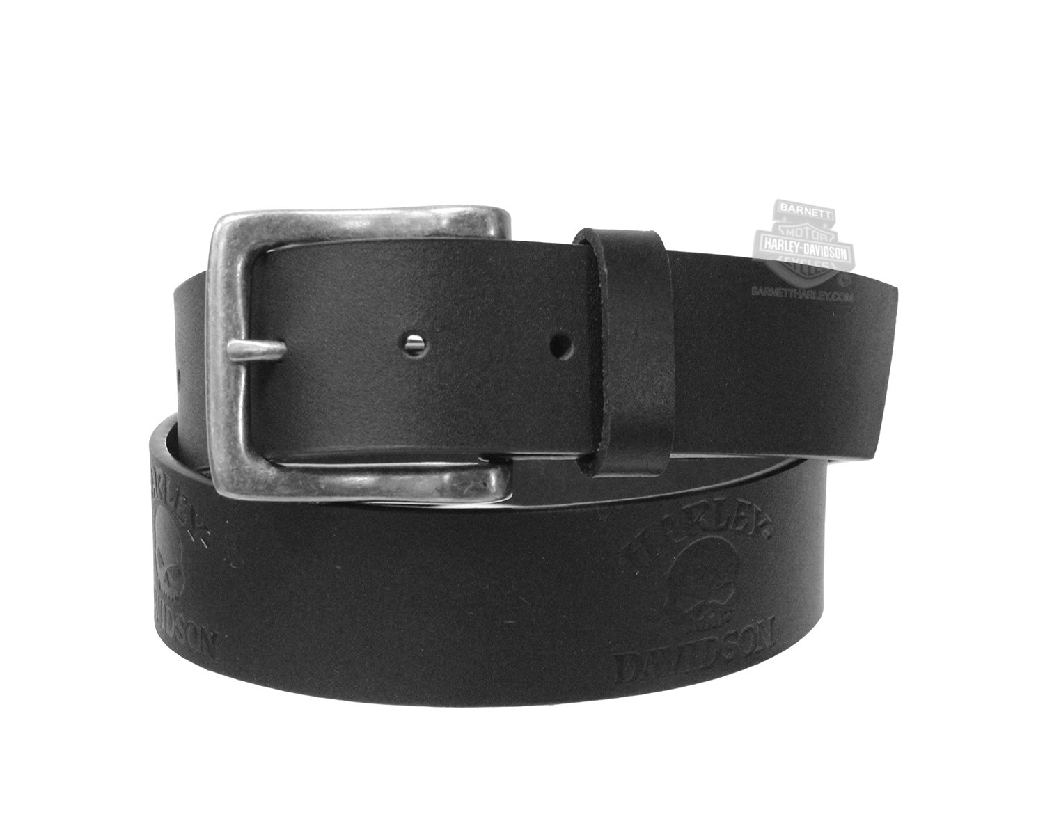 Harley-Davidson Men's Phantom Willie G Skull Belt, Black Leather HDMBT11040 (36)
