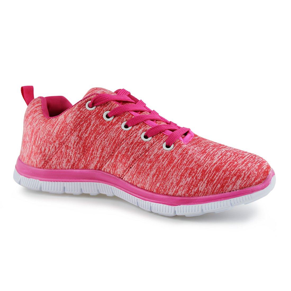 Hawkwell Women's Light Weight Sport Fashion Sneaker B0716TZV78 8 B(M) US Coral