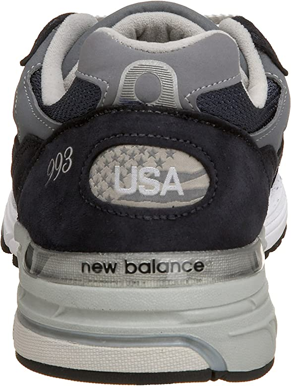 d6d9e3fde4bd3 Men's MR993 Running Shoe. New Balance Men's MR993NV, Navy, 9 D US. Back.  Double-tap to zoom