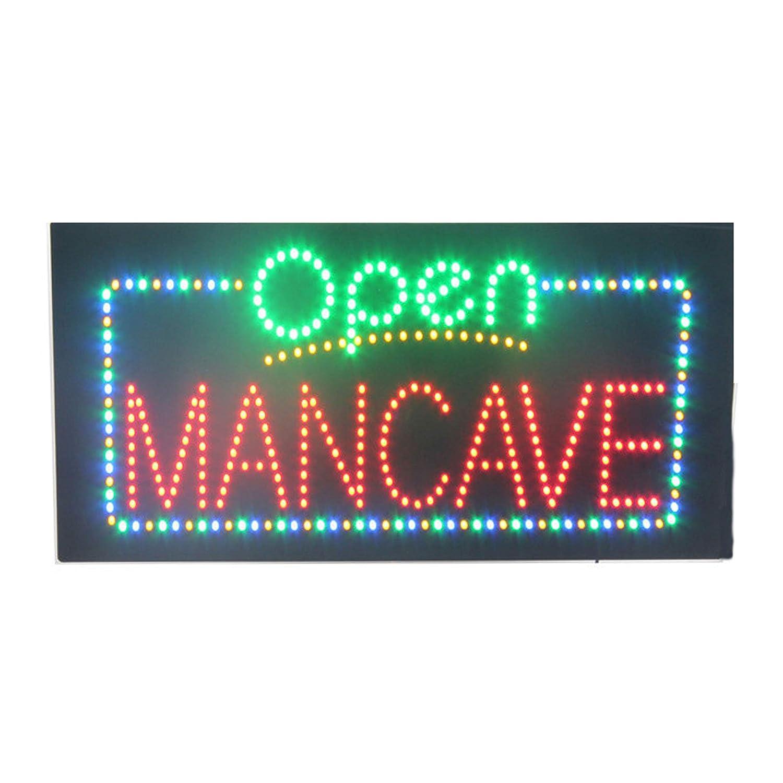 LED Man Cave Barber Shop Open Light Sign Super Bright ...