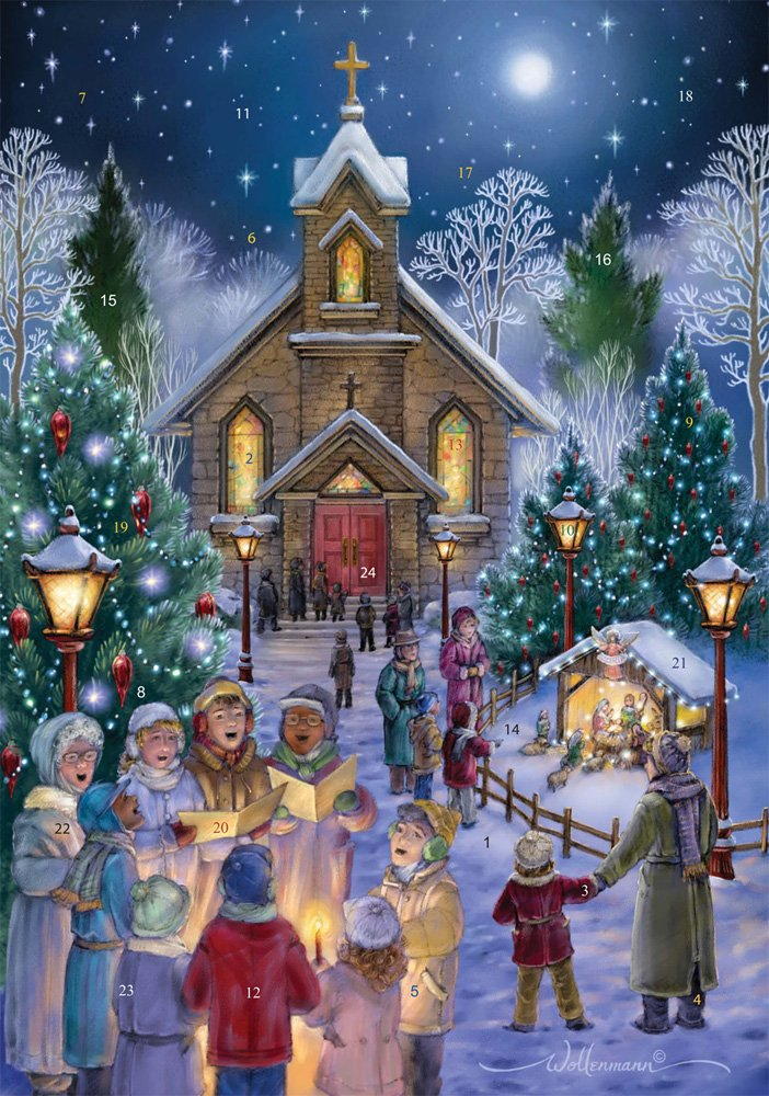 Midnight Mass Advent Calendar (Countdown to Christmas) Vermont Christmas Company