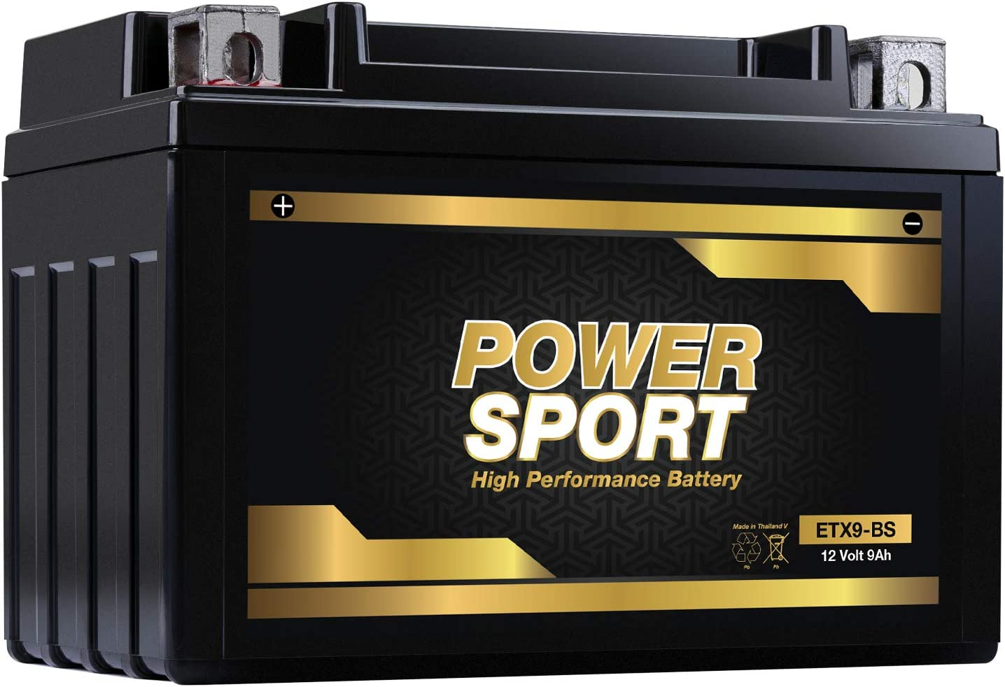 ExpertPower YTX9-BS 12v 9ah Replacement Battery for 2003-06 Kawasaki KSF400A KFX400