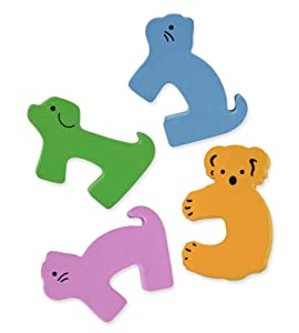 Finger Pinch Guard by Boxiki Kids - 4 Pack of Baby Proofing Door Stoppers and Finger Guard with Bright Colorful Animals for Child Safety. Door Stopper for Kids and Animals