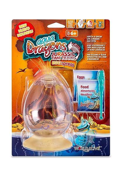 Aqua Dragons Viaje EGGspress al Periodo Jurásico Juguete educativo World Alive 4005: Amazon.es: Juguetes y juegos