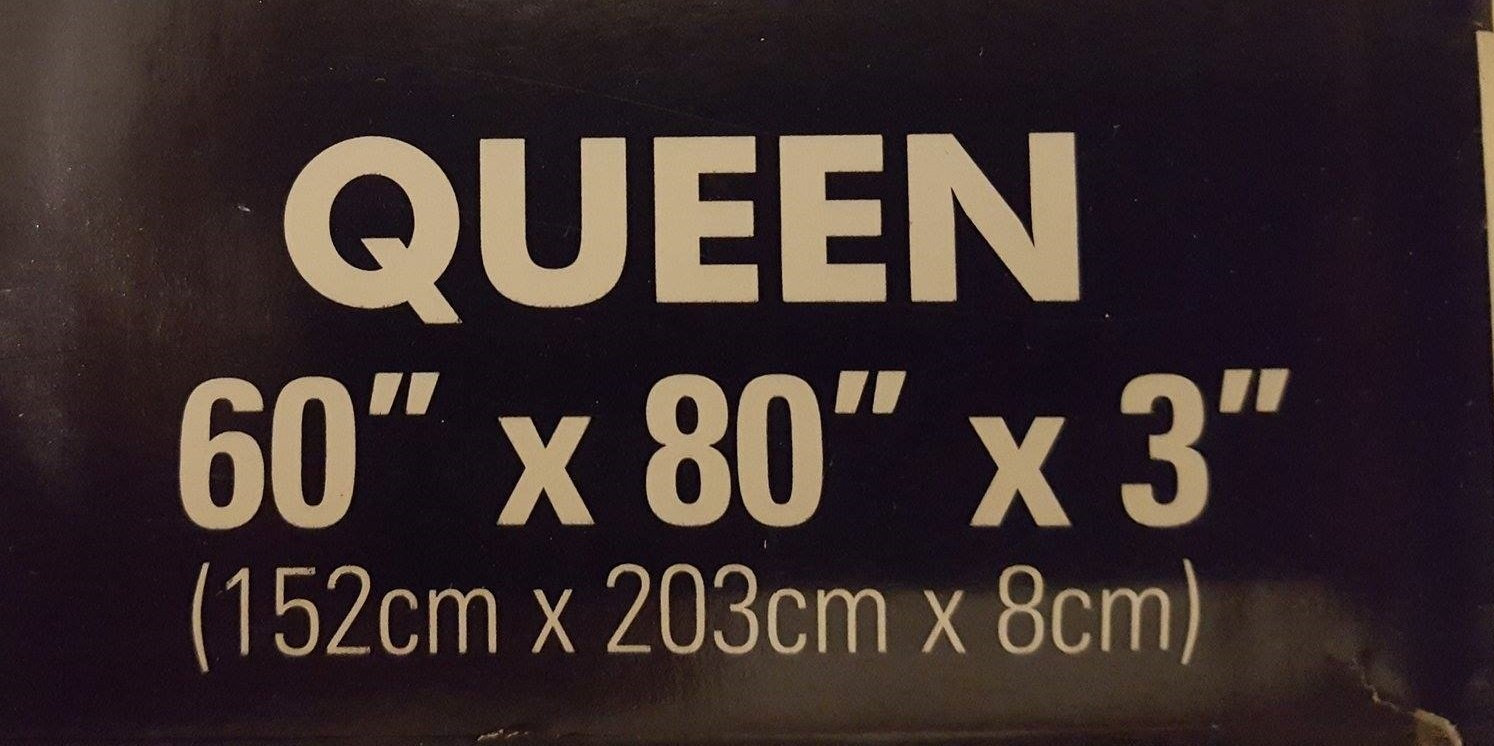 Serta Rest - Queen - 3 Inch Gel Memory Foam Mattress Topper - 60 x 80 x 3
