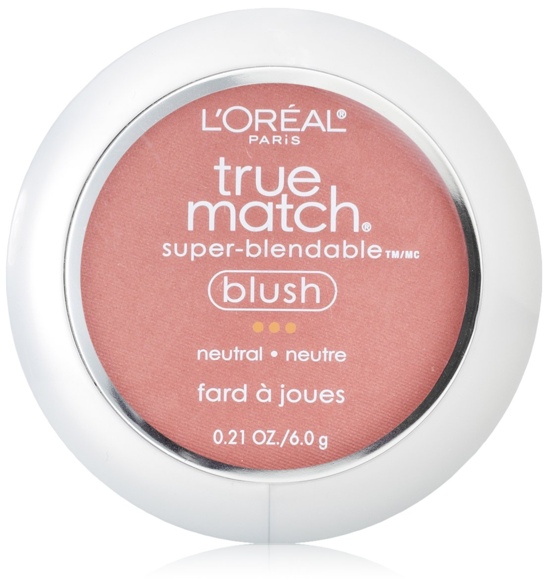 L'Oréal Paris True Match Super-Blendable Blush, Apricot Kiss, 0.21 oz.